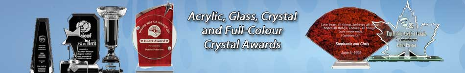 Crystal and acrylic awards
