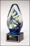 Art glass award from St. Regis Crystal